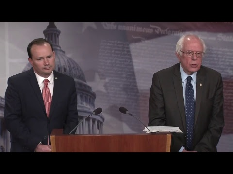 Sanders, Lee and Murphy Introduce Yemen War Powers Resolution Sens. Bernie Sanders (I-Vt.), Mike Lee (R-Utah) and Chris Murphy (D-Conn.) will introduce Wednesday at 4:30 p.m. a bipartisan joint resolution to remove U.S. armed forces from hostilities..., From YouTubeVideos