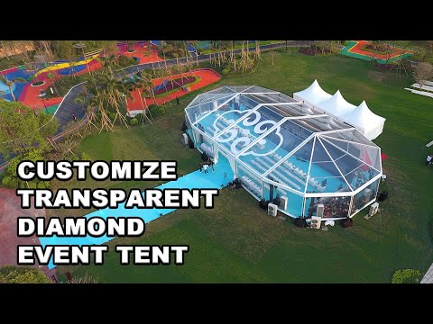 Transparent Multi-sided Tent Event Tent with Liri Tent Diamond Shape
