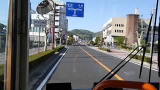 相生市の市街地を縦断後、相生市の景観スポット『万葉の岬』に至る路線...
