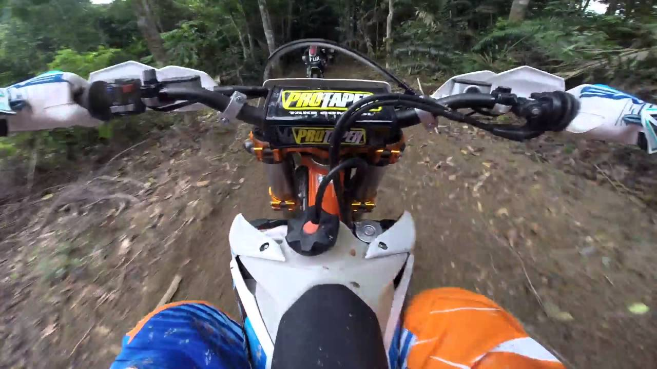 onboard ktm exc 350 f six days - youtube