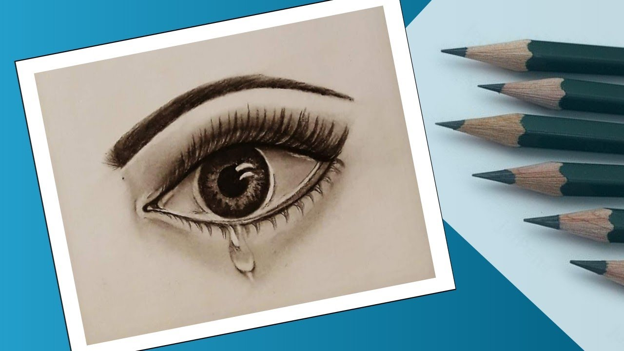 How to draw an eye step by step in pencil how to draw eyes for beginners drawings of eyes crying