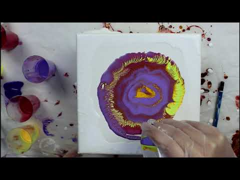 Fluid Acrylic Painting – Drip Painting Experiment, Part 3!