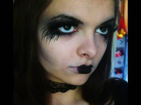 Dramatic Goth Costume Makeup