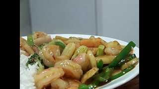 Shrimp And Broccoli In Garlic Oyster Sauce 1/2 Chef John The Ghetto Gourmet Show