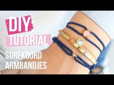 Sieraden maken: Hippe fashion armband met surfkoord ♡ DIY