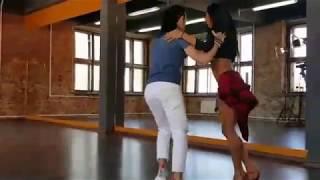 Чино и Диана танцуют сальсу на съёмках сериала