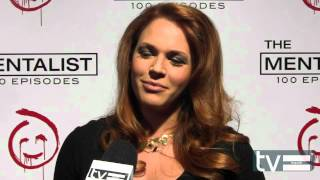 Amanda Righetti at The Mentalist Season 5 100th Episode Party