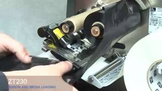 Zebra ZT230 How-To Load Media and Ribbon(Learn how to load media and ribbon in your Zebra ZT230 industrial printer. See more ZT230 how-to videos: http://bit.ly/ZT200Playlist Learn more about the ..., 2012-06-01T10:46:12.000Z)