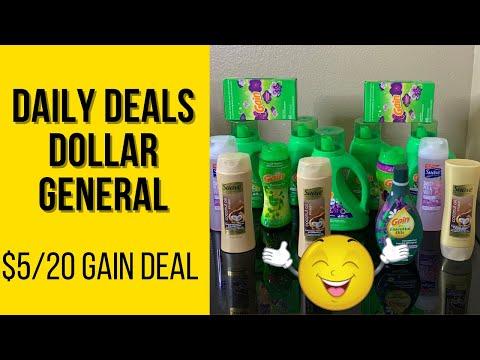 Dollar General Daily Deals   $5/20 Gain Deal   Low Oop   Digital Coupons