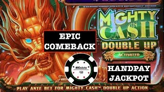 ⭐️HANDPAY MIGHTY CASH DOUBLE UP MONEY DRAGON EPIC COMEBACK ⭐️ OCEAN SONG SLOT MACHINE