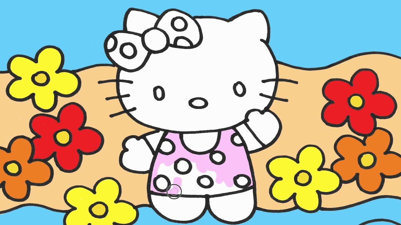 Hello Kitty çizgi Film Karkater Boyama Minik Eller Boyama Kitabı