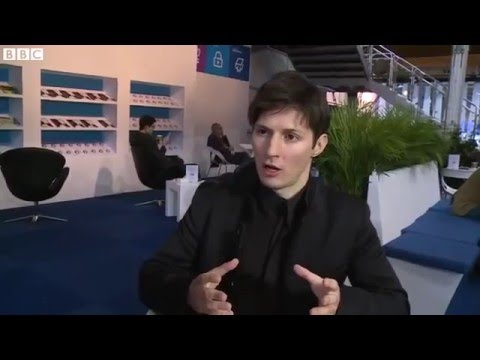 Pavel Durov (Telegram) - BBC Interview at MWC 2016