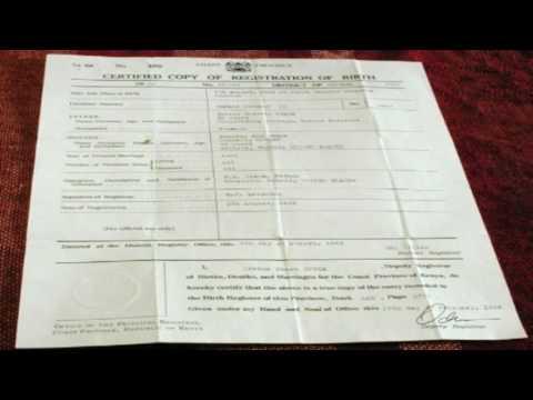 Obama kenyan birth certificate found? Thanks Orly Taitz and Alex ...