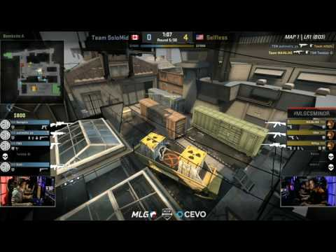 Team Solomid vs Selfless Gaming - Champion Losers Round 1 - Game 1 - MLG Americas CS:GO Minor