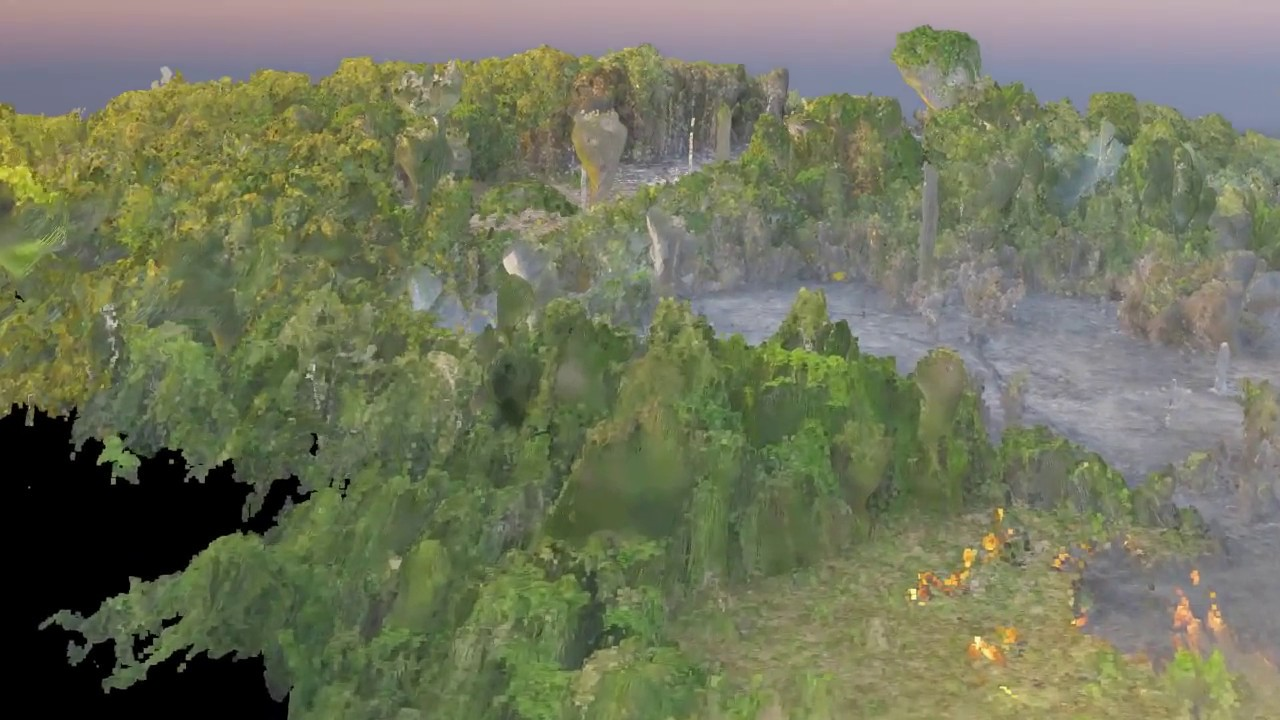 Drone 3d Forest Map Amazon Forest Fire 2017 Mapa 3d Com Drone