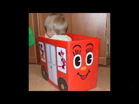 Игрушки для детей своими руками из картонных коробок смотреть в хорошем качестве