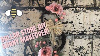 DIY DOLLAR STORE EASTER DECOR-BUNNY MAKEOVER