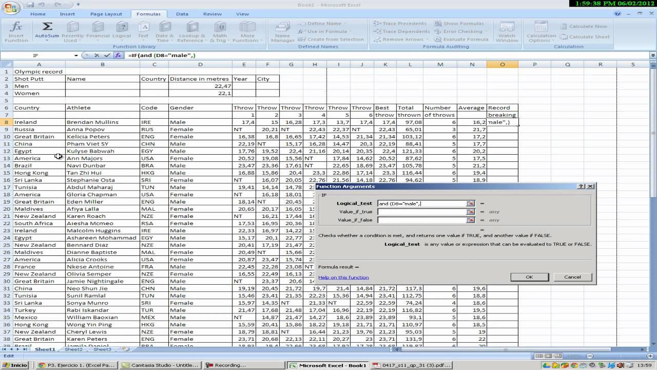Excel Formulas Avanzadas Youtube