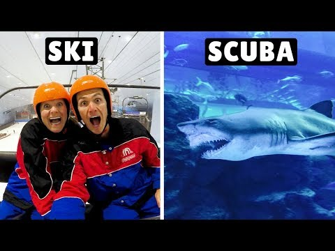SKI & SCUBA INSIDE A MALL! Dubai Mall & Mall of the Emirates