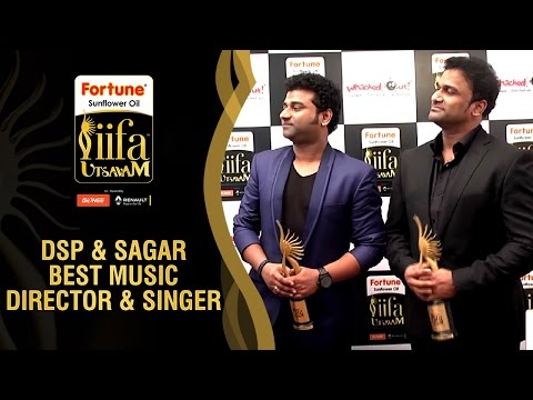 DSP and Sagar Funny Chat with Viva Harsha | Best Music Director & Singer - Telugu | IIFA Utsavam