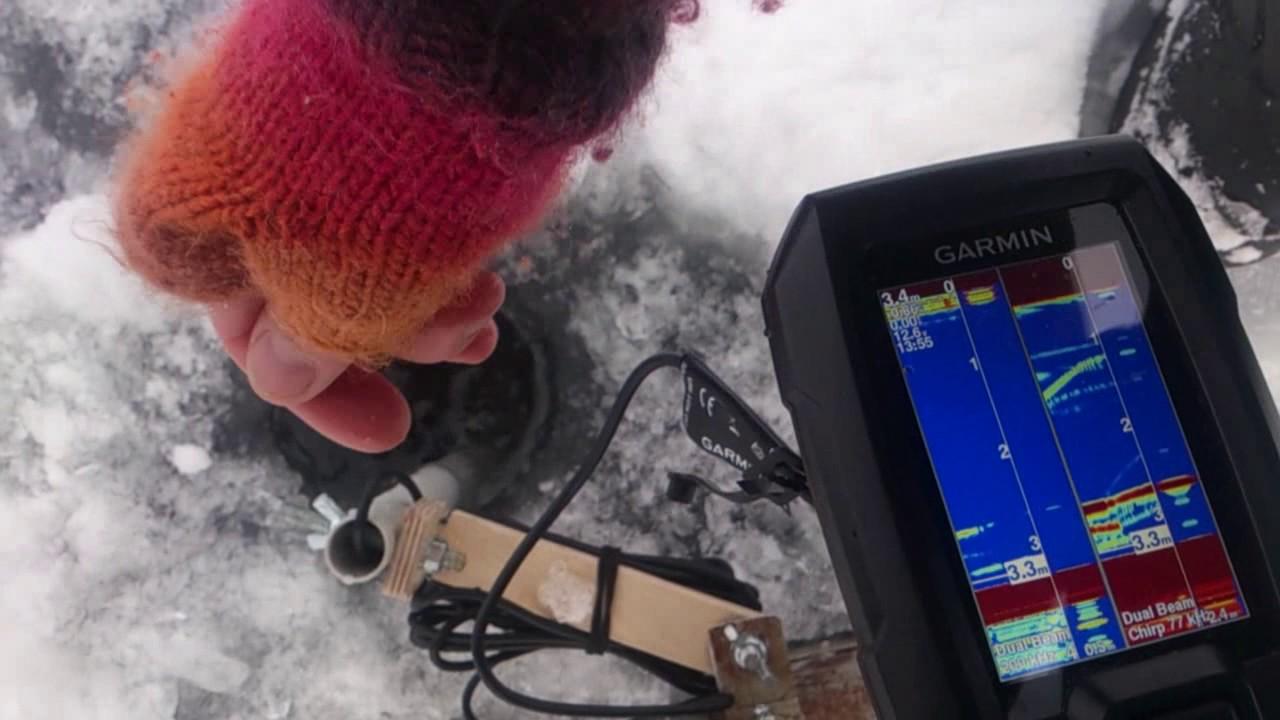 Garmin striker 4 ice fishing test youtube for Garmin striker 4 ice fishing