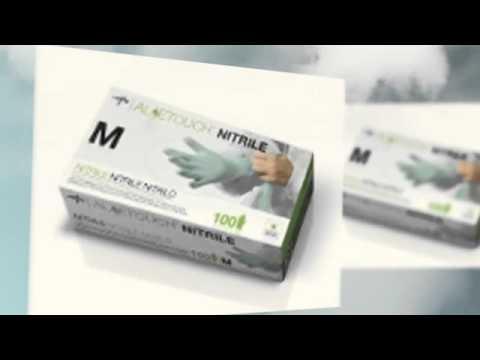 Medsav Solutions-MEDLINE ALOETOUCH POWDER-FREE LATEX FREE NITRILE EXAM GLOVES