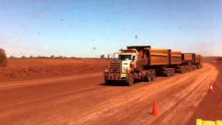 Iron-ore road train