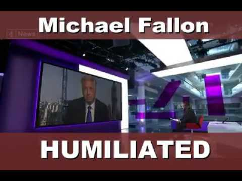 Michael Fallon humiliated by Channel 4 News