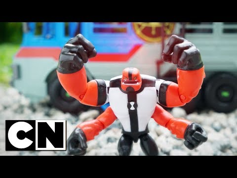 Ben 10 Toys | FOUR ARMS vs HEX | Cartoon Network