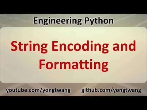 Python Tutorial 05D: String Encoding and Formatting thumbnail