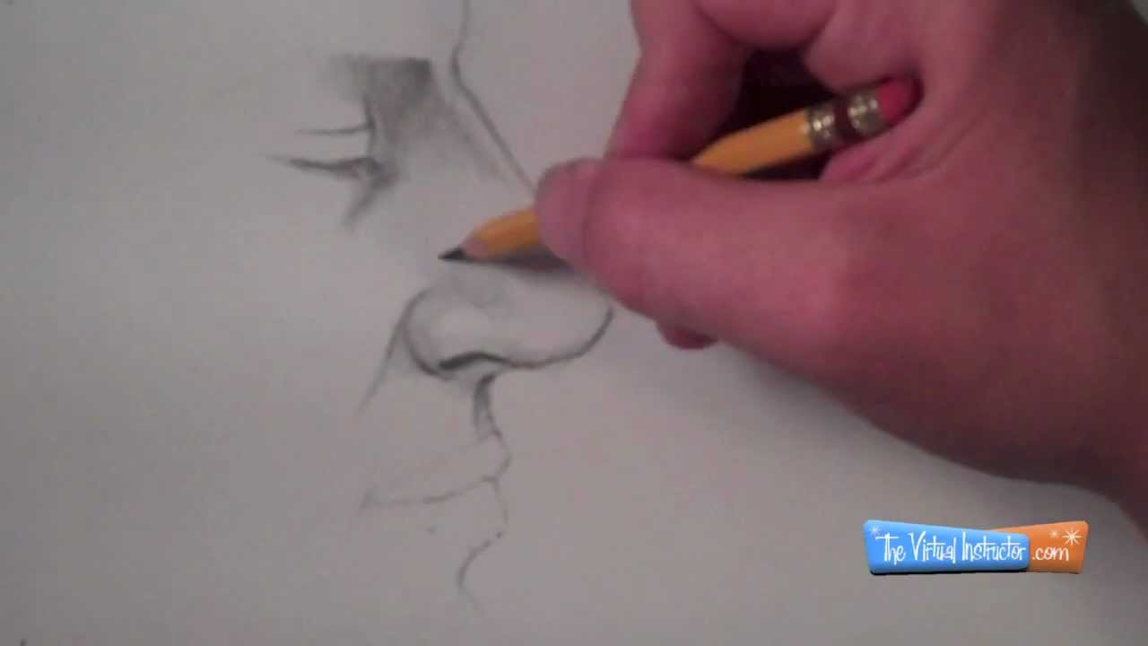 How To Draw A Nose  Side View