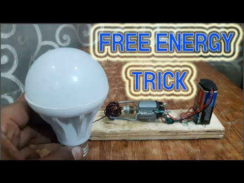 How to Make Free Energy New Project 2018 9 volt Battery and Dc Motor with Magnet 2018