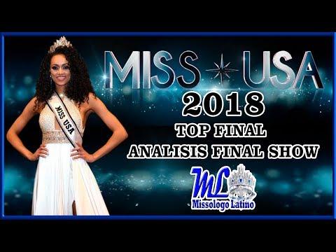 MISS USA 2018 - Top Final - Análisis Final Show