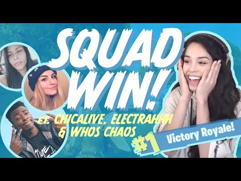 Girls Carrying tK WhosChaos! Ft. ChicaLive & Electrahhh - Valkyrae Fortnite