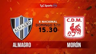 Almagro vs Deportivo Moron full match