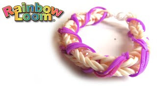 Как плести браслет из резинок Монстр Тэил | How to weave rubber band bracelet on Monster Teil