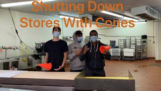 Shutting Down Stores With Cones
