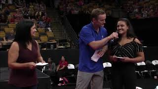 Laurie Hernandez at 2018 U.S. Gymnastics Championships   Who knows better w/ her mom