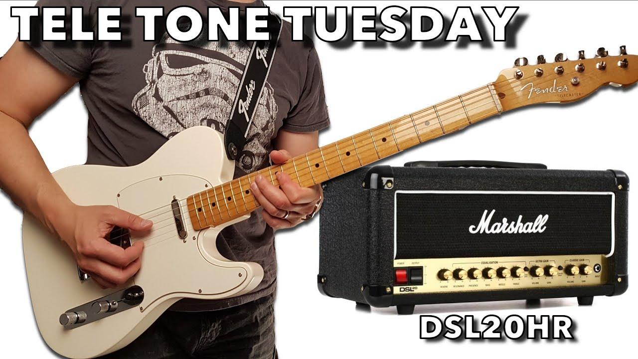 TELE TONE TUESDAY   Part 40   Fender Custom Shop Texas Special & Marshall  DSL400HR