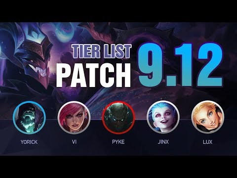 LoL Tier List Patch 9.12  by Mobalytics (The Mordekaiser Rework Update)