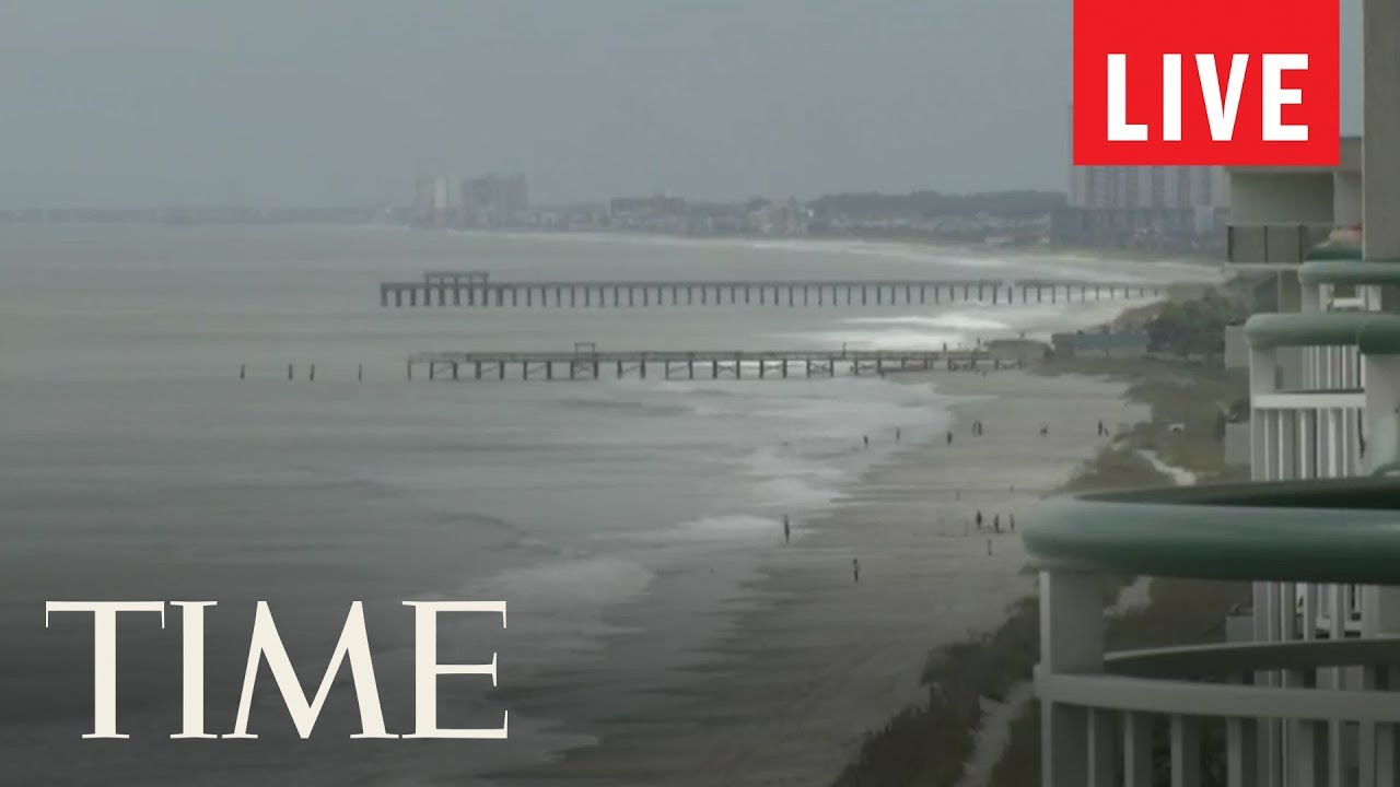 Footage From Myrtle Beach Sc Amp Nags Head Nc As Hurricane