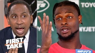 Stephen A. doesn't want to hear Le'Veon Bell's message to Jets haters | First Take