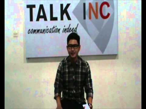 Host and MC Vicky Kurniawan 2013 ( Talk Inc Final Exam class profesional TV Presenter Batch 55)