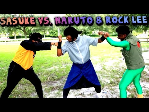 "Sasuke Vs Naruto & Rock Lee (Hood Anime) Ft Jiraiya ""Pervy Sage"""