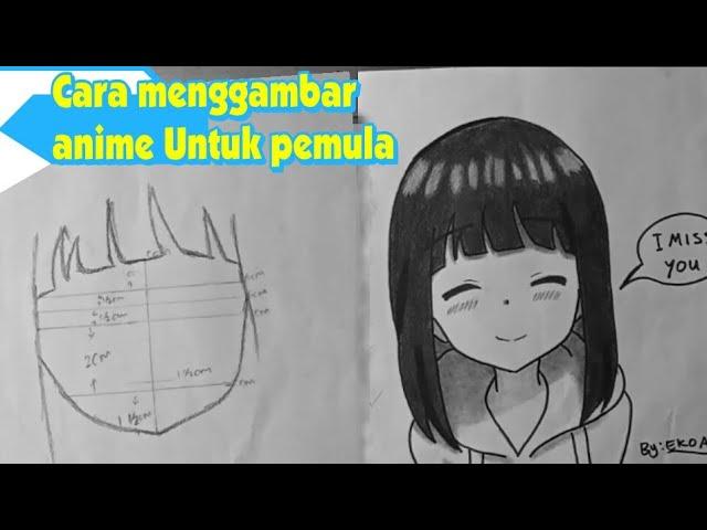 Cara Menggambar Anime Mudah Untuk Pemula Youtube