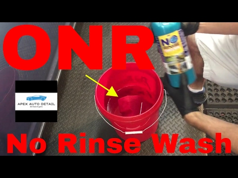 ONR Optimum No Rinse Vol 1 (How to properly use it and when) for cars,trucks,boats,planes,Rv's.