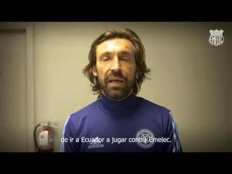 """Andrea Pirlo: """"Estoy muy emocionado por ir a Ecuador a jugar contra Emelec"""""""