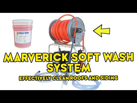 The Maverick Soft Wash System | How To Clean Roof & House With Low Pressure Machine