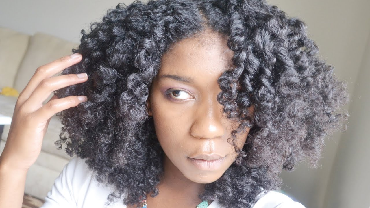 Fluffy Cocoon Curls on Natural Hair - YouTube