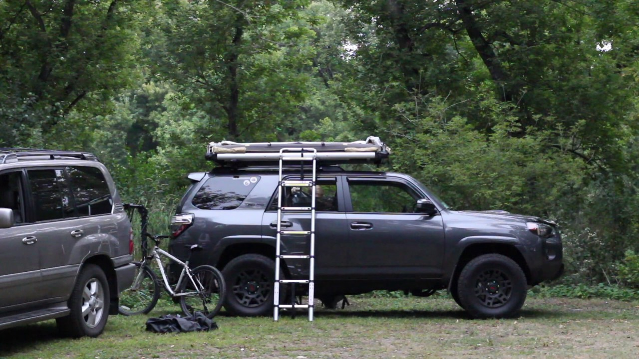 Deploying our FSR Adventure Series M49 Roof Top Tent & Deploying our FSR Adventure Series M49 Roof Top Tent - YouTube